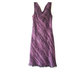 DONNA RICCO purple stripes dress